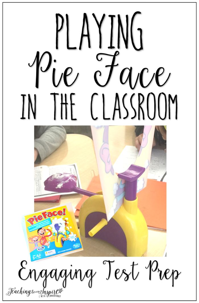 I love playing high interest games in the classroom for review and test prep. This post shares some ideas for playing pie face game in the classroom.