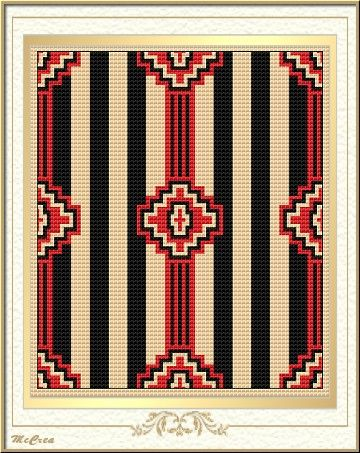 Love this design maybe withore subtle colors for the stripes native american pattern