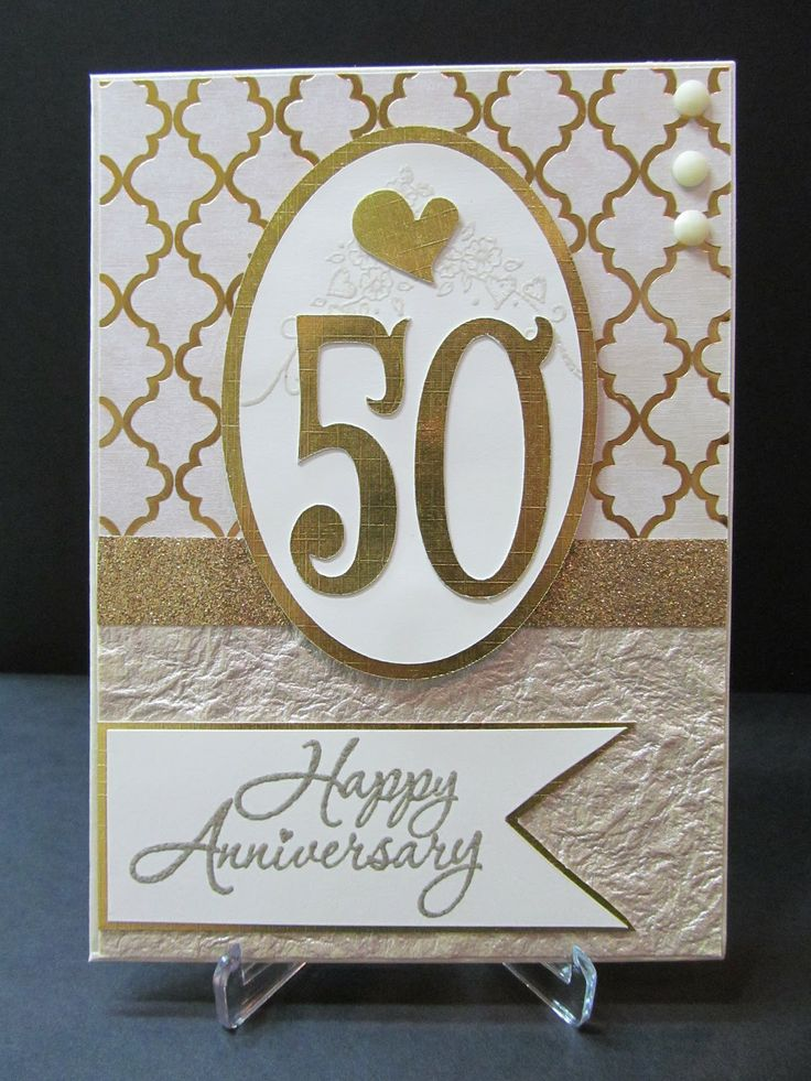 make anniversary cards handmade | 50th Anniversary Card