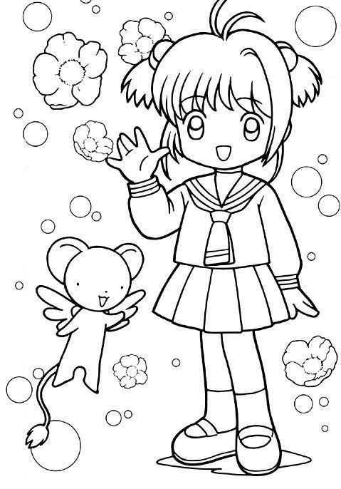 Dibujos De Animé Y Manga Para Colorear E Imprimir Colorear