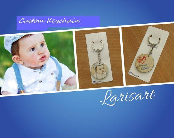 Personalized Keychain Custom Keychain Birthday Gift by LarisArtRo
