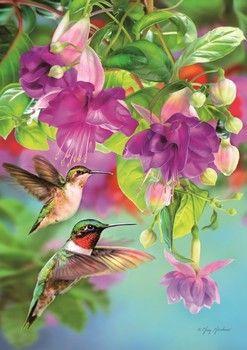 Hummingbirds - 1000pc Jigsaw Puzzle by Piatnik in 2019
