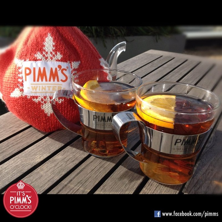 Hot winter Pimms in a Pimms teapot!!!