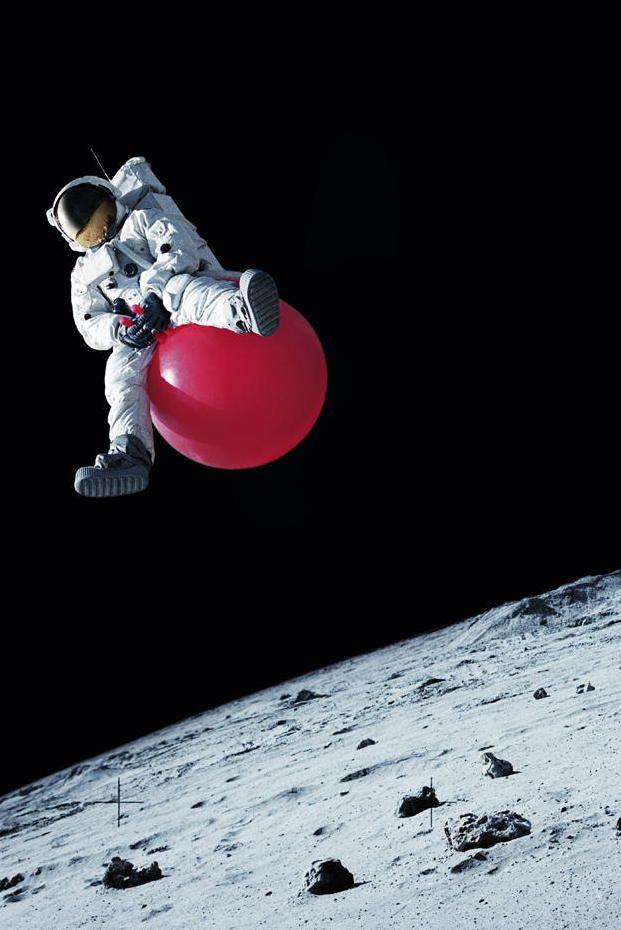 Yo jugando en el espacio.