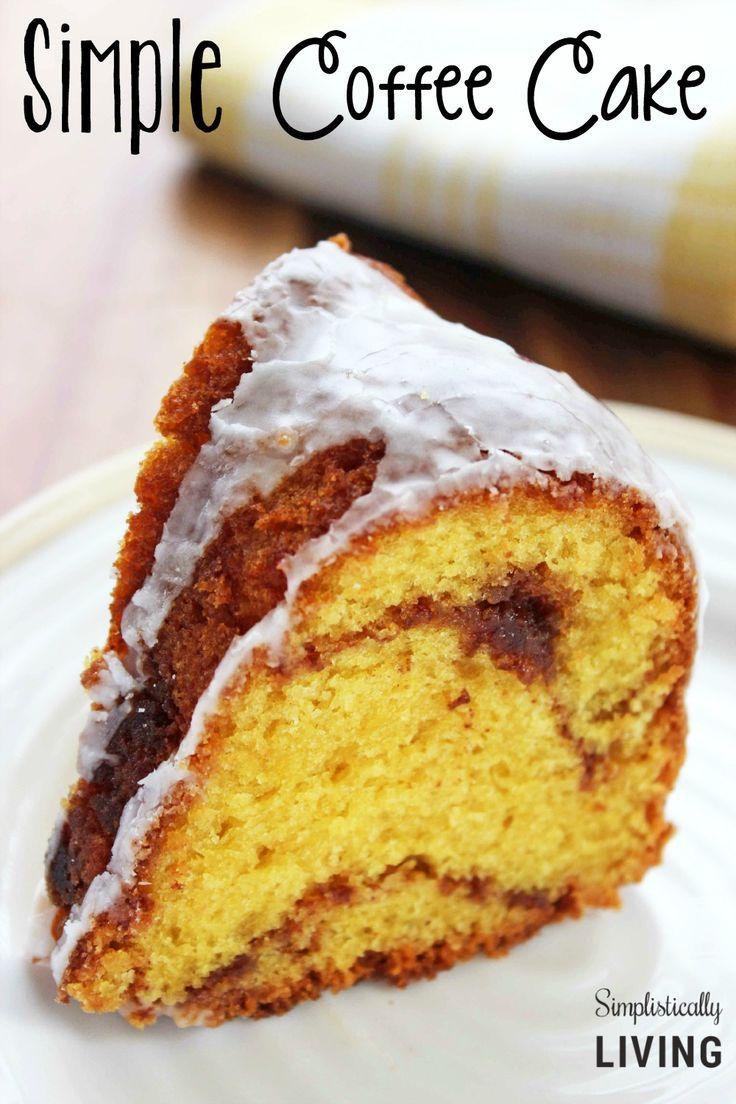 Simple Coffee Cake Simplistically Living