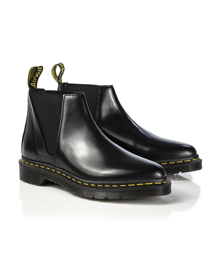 Dr Martens Women's Bianca Low Shaft Zip Chelsea Boots - Black Polished Smooth                                                                                                                                                                                 More