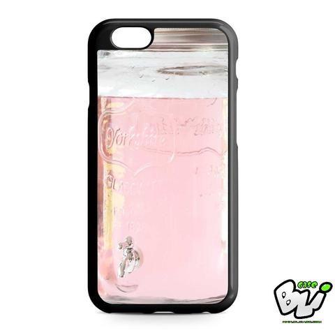 Pink Glass Mason Jar iPhone 6   iPhone 6S Case