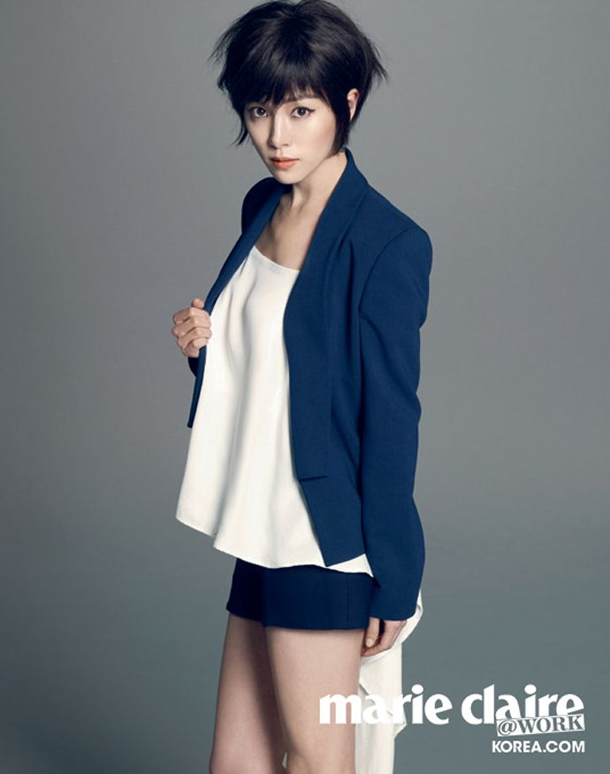 Short Haired Han Ji Min Is Cute & Sexy For Marie Claire Korea (@Work)   Couch Kimchi