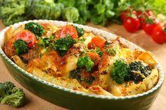 Przepis na Zapiekanka rybna z makaronem i brokułami