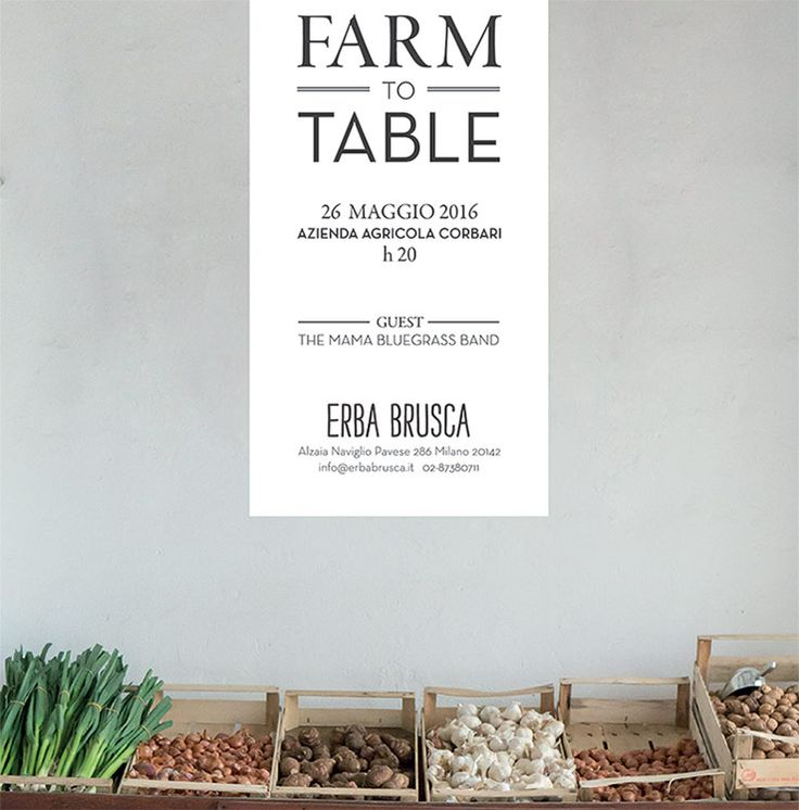 Erba Brusca: farm to table. Amazing restaurant just outside of Milano.