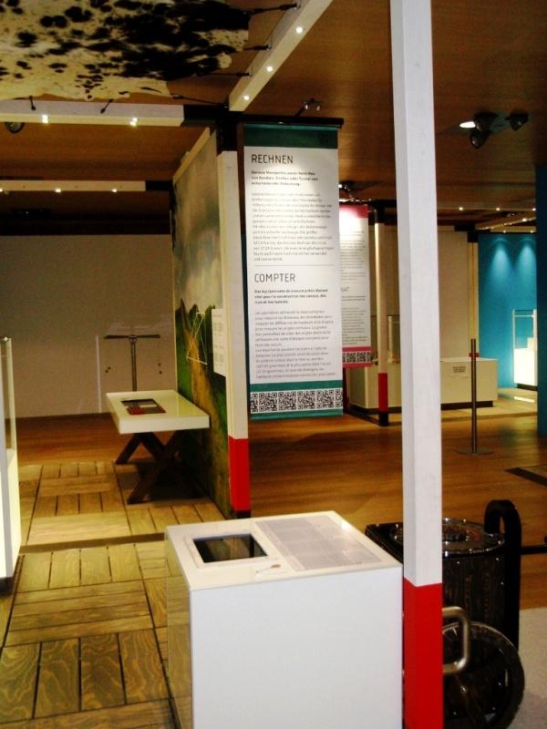 """QR-Codes in der """"Römer""""-Ausstellung, LVR-Landesmuseum Bonn"""