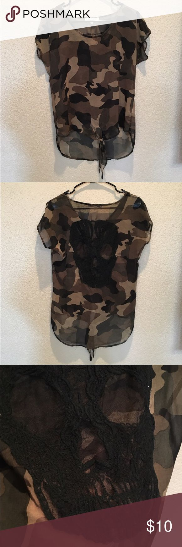 Love Culture CAMO Top From Love Culture (basically a Forever 21) Size Small can easily fit a medium  Polyester Love Culture Tops Blouses