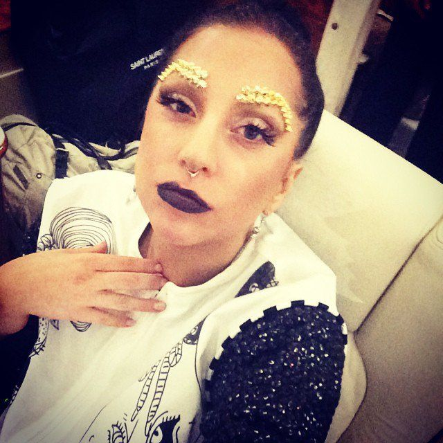Pin for Later: The Sweetest and Silliest Celebrity Candids From 2014  Lady Gaga turned into a gypsy princess in this photo. Source: Instagram user ladygaga