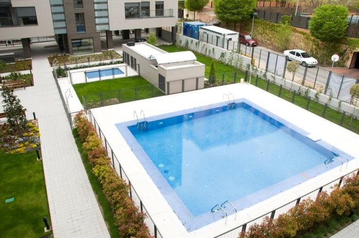 Exterior con piscina #víacelere #Madrid #arquitectura