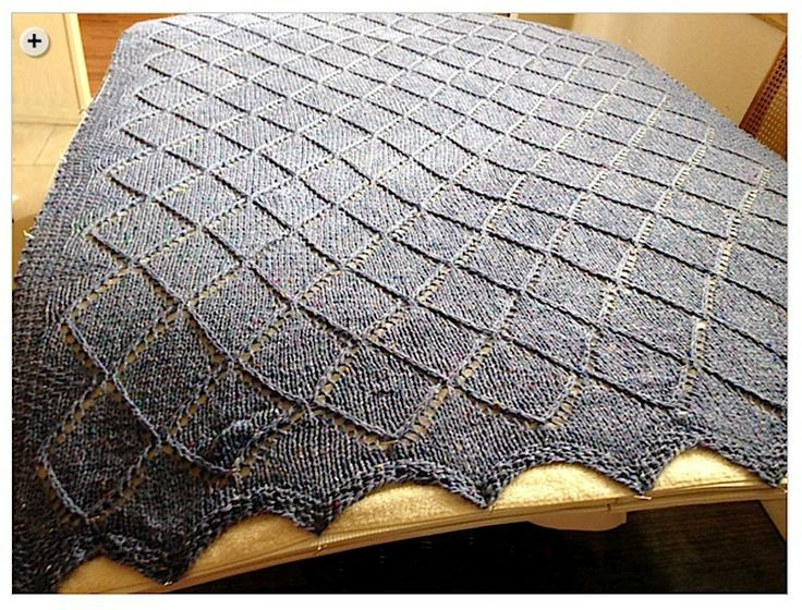 Sophisticated gray makes a stunning Raised Diamond Points Blanket.