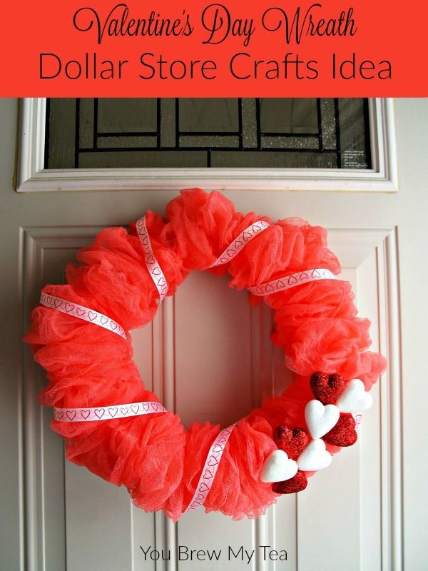 Valentines Day Wreath Dollar Store Crafts Idea Dollar
