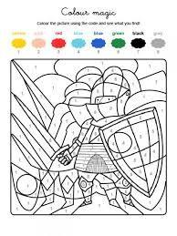 103 best coloriage magique images on pinterest coloriage - Coloriage magique chevalier ...
