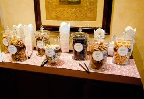 Cookie Buffet with take home containers- for a wedding!