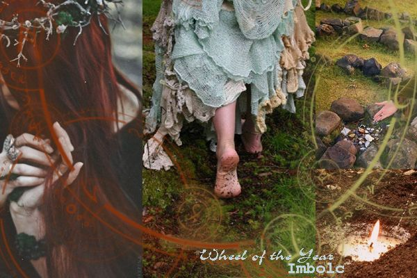 Колесо года, Имболк Wheel of the Year, Imbolc, postcard