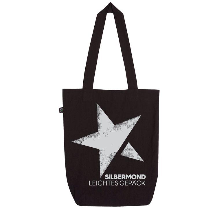 Silbermond Leichtes Gepäck Beutel Tasche schwarz