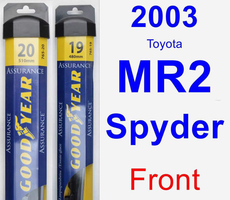 front wiper blade pack for 2003 toyota mr2 spyder assurance products toyota mr2 and toyota. Black Bedroom Furniture Sets. Home Design Ideas