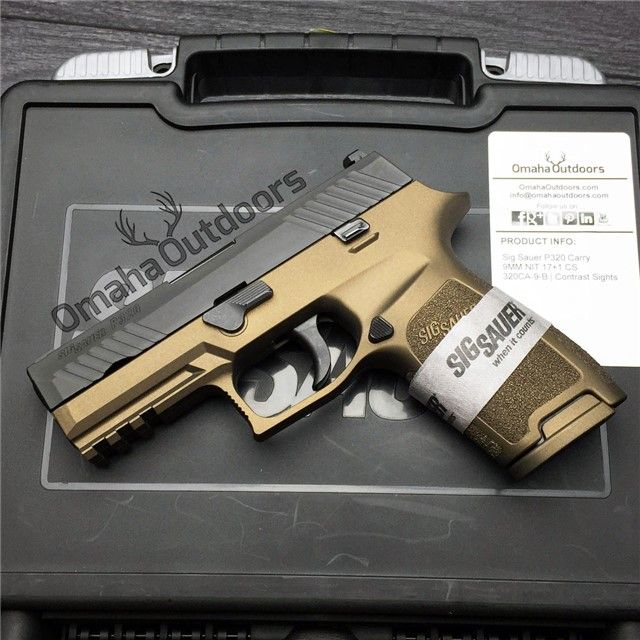 "Sig Sauer P320 Carry Burnt Bronze 9mm 17 RDS 3.9"" Handgun - $629.00 I got mine last week and i love it Sig finally hit thier mark! As my final duty weapon , Omaha Outdoors took care of my request and the above p320 has the smoothest triggers that put Glock and Smith n Wesson to shame. Paired with Streamlights new 800 lumens TRL1H and Safariland level 3 holster. This weapon streams through tactical challenges both on and off duty. Omaha Outdoors now has all my buisness"