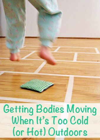 Getting Little Bodies Moving When It's Too Cold (or Hot) Outdoors