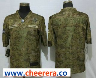 f601f1daea4 Men s Pittsburgh Steelers  7 Ben Roethlisberger 2018 Camo Salute to Service  Stitched NFL Nike Limited Jersey