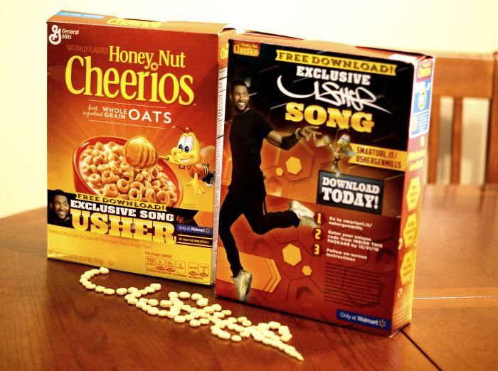 Exclusive Usher Song with Honey Nut Cheerios & Walmart #spon