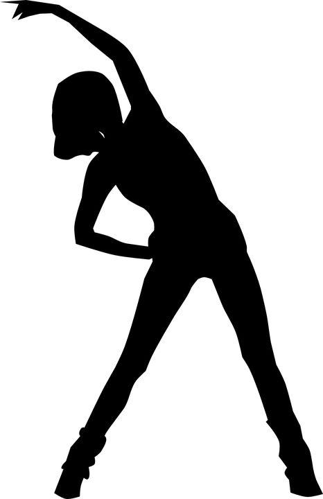 Kvinde, Sport, Aerobic, Fitness, Gymnastik, Silhuet