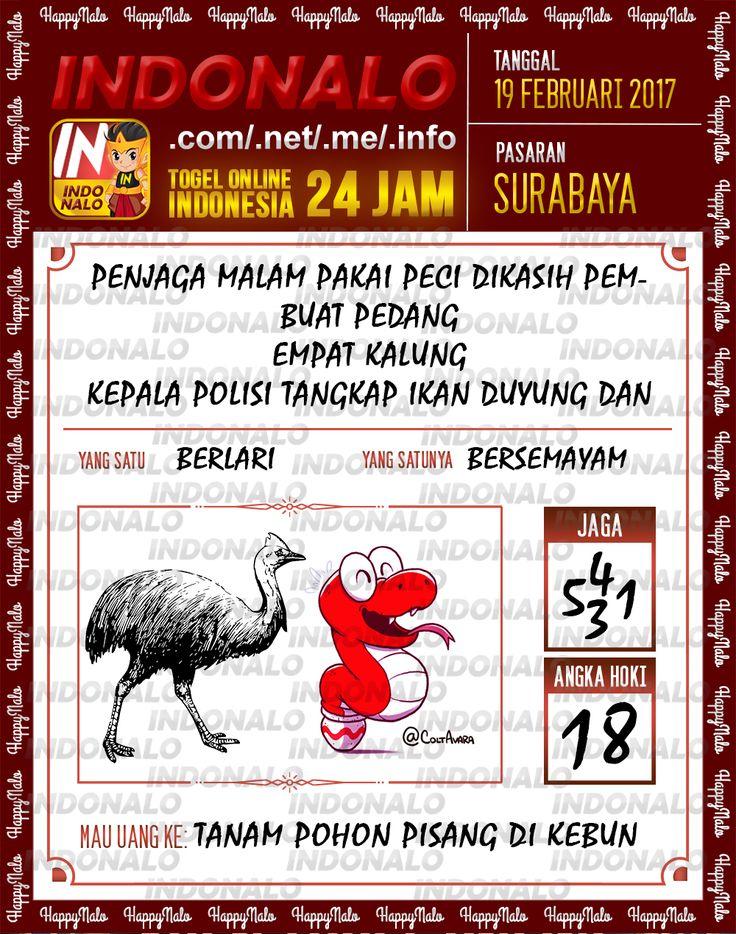 Taysen Hoki 3D Togel Wap Online Live Draw 4D Indonalo Surabaya 19 Februari 2017