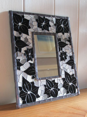 Hand painted mirror by ASplashofColour1 on Etsy, £20.00