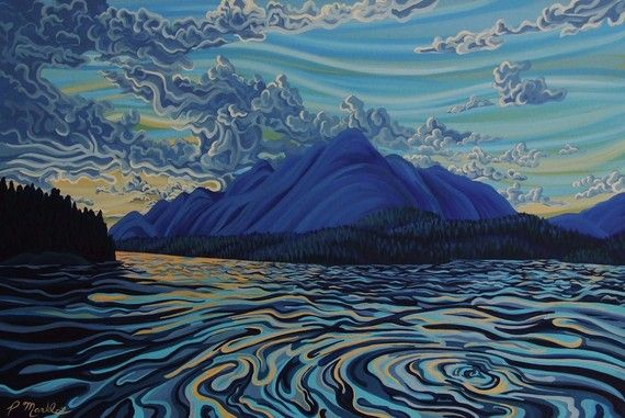 Check out this awesome work of art : Sunset Lake Koocanusa by patrickmarkle on Etsy, $79.89