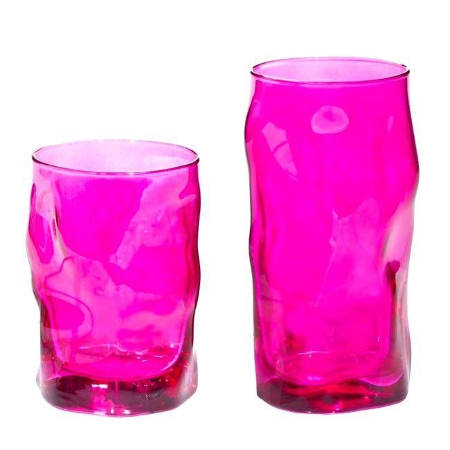 Σετ 12 τεμαχίων ποτήρια νερού - κρασιού sorgente , χρώμα φούξια , χώρα προέλευσης: Ιταλία, οίκος Bormioli Rocco.