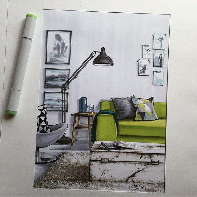 #скетч #скетчинг #маркеры #декор #дизайн #дизайнинтерьера #интерьер #markers #marker #sketch #sketching #interior #interiordesign #interiorsketch #decor #design