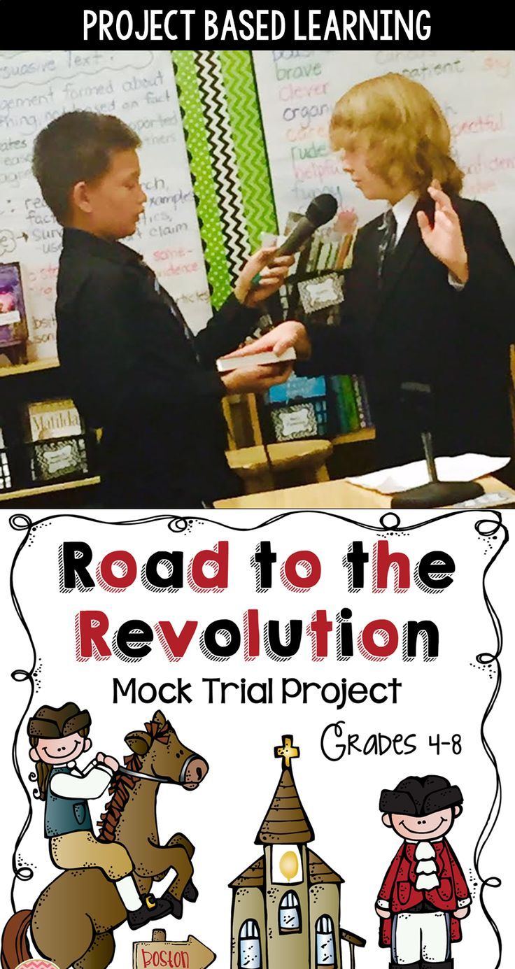 Bringing history alive is so important and so much fun!  In our classroom, we bring the American Revolution to the present day by putting the Sons of Liberty and the British Red Coats on trial during our classroom 'Mock Trials.'  You'll love this project - it's just so amazing to see your students living out the history they've learned in their text books!