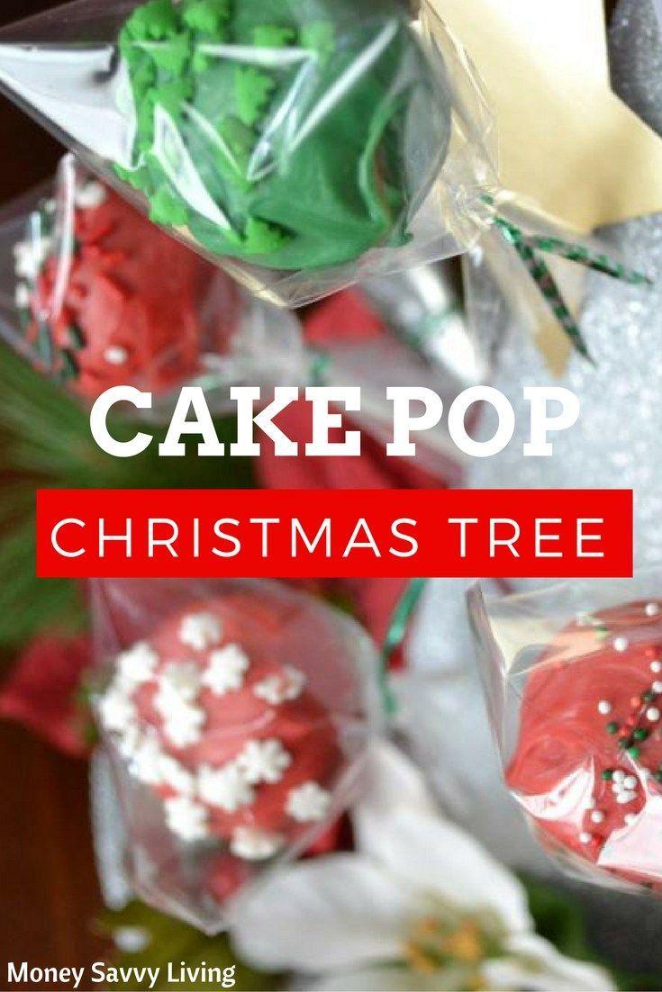 Cake Pop Christmas Tree // Money Savvy Living #Christmas #christmastable #cakepops