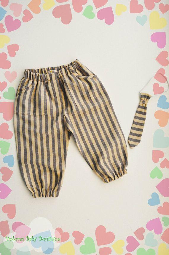 Baby Boy Set Baby Boy Pants Baby Boy Tie by DoloresBabyBoutique