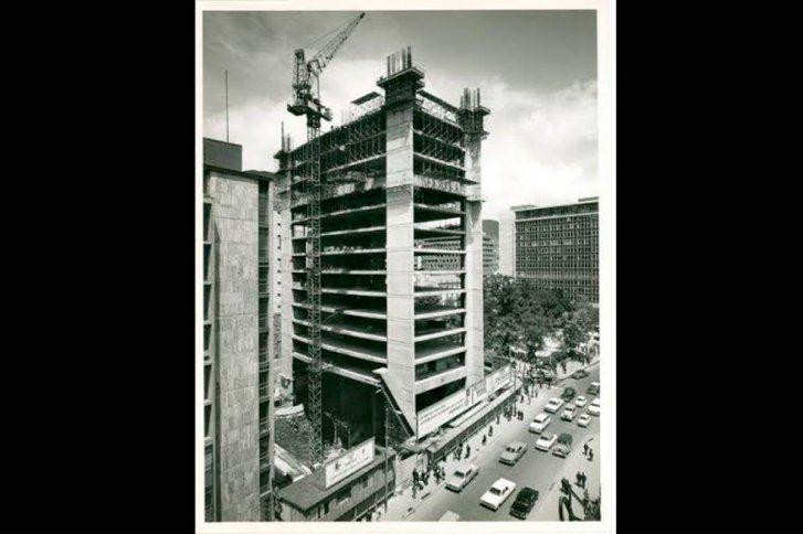 Santafé de Bogotá - Construcción del Edificio de Avianca en 1968.