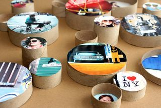 DIY Cardboard Ring Frames: Photos Ideas, Photos Gifts, Crafts Ideas, Photos Frames, Rings Frames, Photos Display, Rings Pictures, Clever Ideas, Cardboard Photos