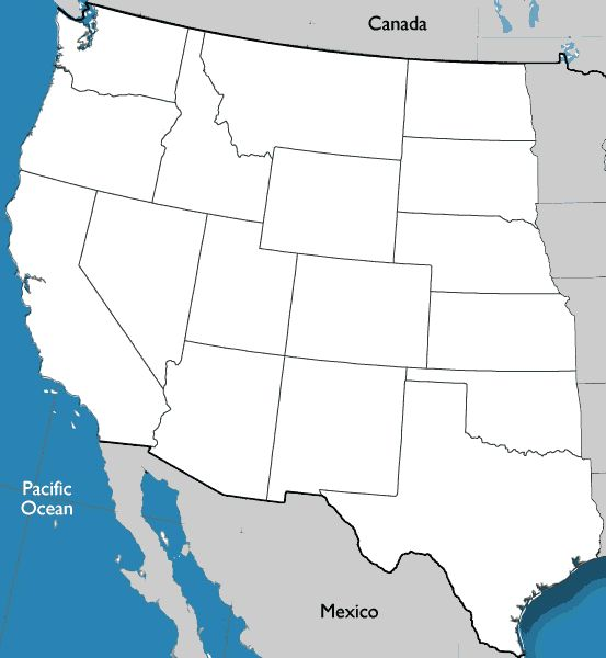 Map Western State Capitals of the United States Worksheet ...