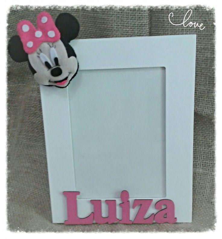 Porta retrato mdf em 10x15, 15x21 ou 20x30.  Disponível em outras cores e modelos (Mickey)  Acompanha vidro.