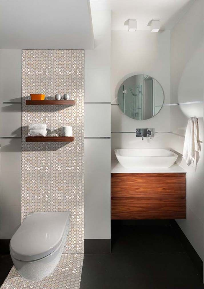 Mosaic Tile Ideas For Bathroom.Penny Round Shell Mosaic Tile ...