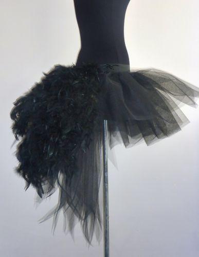 53.41 Burlesque-Noir-Cygne-Jupe-Tutu-Buste-Plumes-Deguisements-Sexy-Les-Reserve-UK