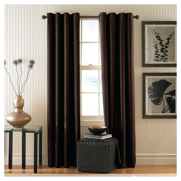 Curtainworks Monterey Lined Curtain Panel - Chocolate (Brown) (108)