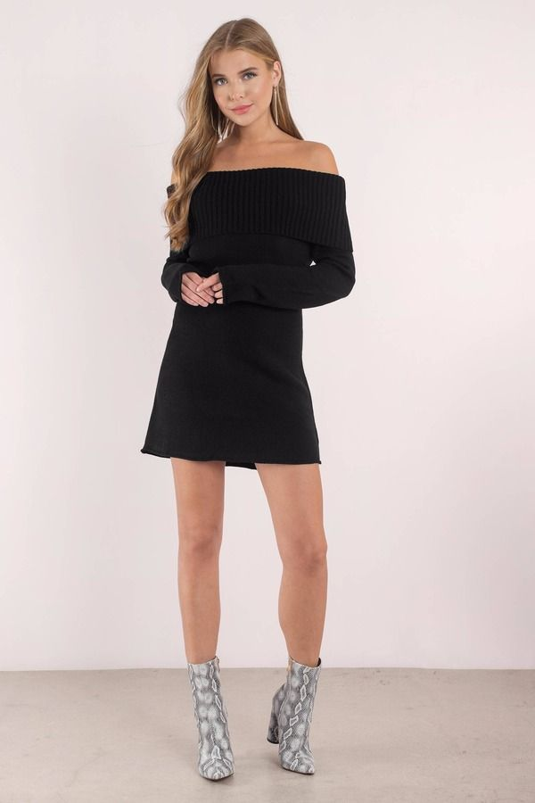 Right Now Off Shoulder Sweater Dress In 2018 Links To Buy Cloths