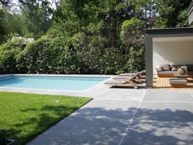 Mix hout beton overdekt terras terras tegel pinterest - Terras hout ...