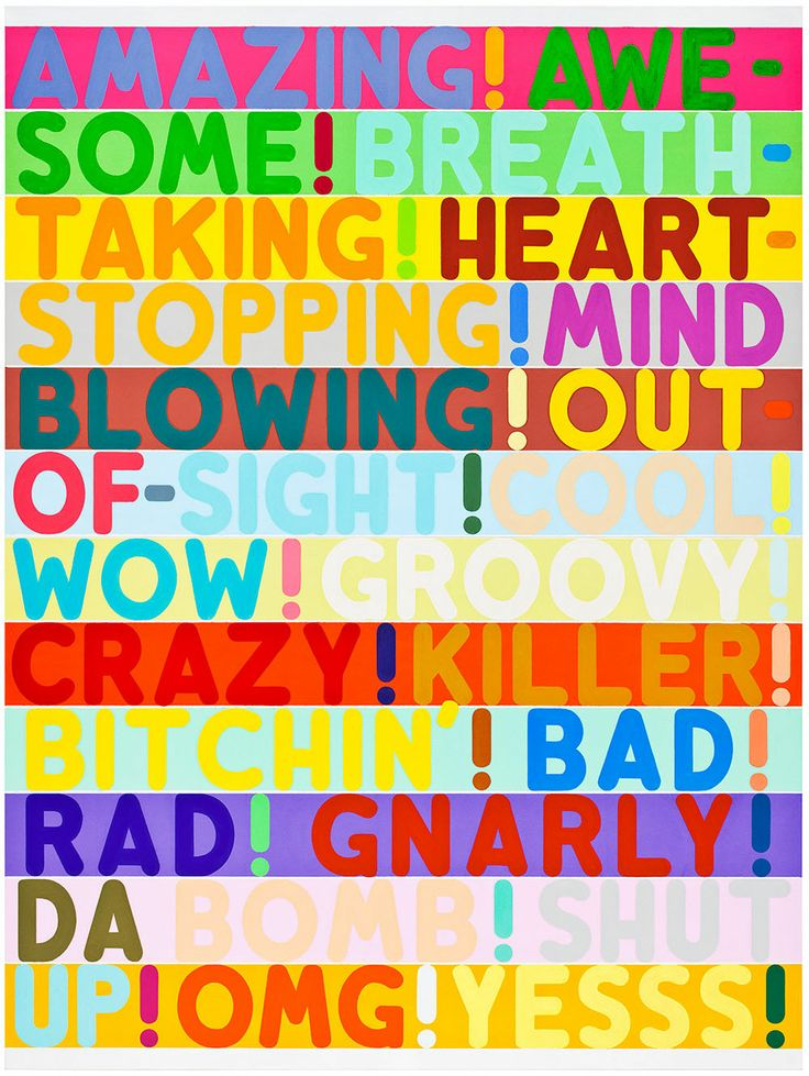 MEL BOCHNER'S THESAURUS PAINTINGS from the New Yorker