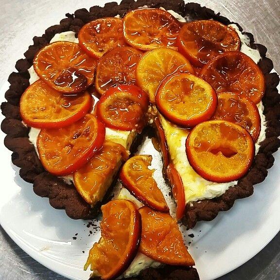Chocolate tangelo tart @superfoodideas