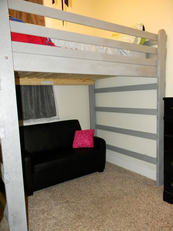 25 best ideas about queen loft beds on pinterest loft bed diy plans queen size bunk beds and. Black Bedroom Furniture Sets. Home Design Ideas